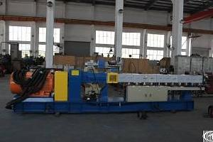Hot Selling 100kg / H Corotating Parallel Twin Screw Pe Extruder Machine For Pe Granules