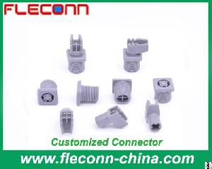 Custom Circular Connector Manufacturer 4 Pin Male Female Pbt Pom Plastic Connector