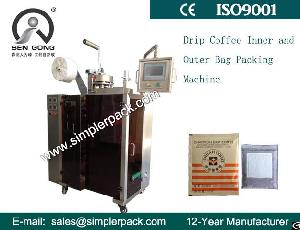 Plc Control 3 Sides Sealing Drip Bag Coffee Packaging Machine For Italy Espresso Coffee