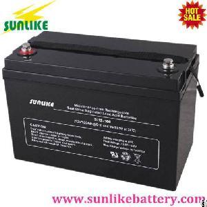 12v100ah deep cycle solar acid battery