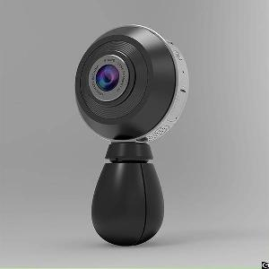 Dual Lens 360 Degree Vr Panoramic Camera, Supports Ios / Android / Windows Os