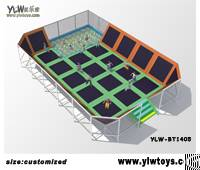 Sport Amusement Trampoline Park, Fitness Body Building Large Combination Trampolines
