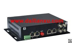 Digital Video Isolated Ethernet Data Fiber Optical Transmitter And Receiver