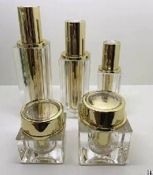 4oz 120ml 100ml 30ml 1oz Cosmetic Acrylic Bottle, 30gr 50gr Gold Cosmetic Bottles And Jars