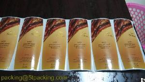 High Quality Cold Stamping Plastic Label For Oud Cambody Shampoo