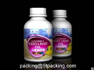 My Dha Childrens Cod Liver Oil Bottle Use Plastic Adhesive Labels