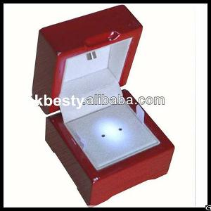 luxury piano lacquered led jewellery lighting box