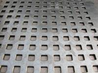 Perforated Square Hole In Steel