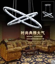 crystal ring pendant light ceiling circle chandelier lamp