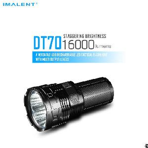 Imalent Dt70 Cree Xhp70 Led Portable 16000lm Flood Flashlight With Oled Display