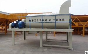 Best Selling Wbz500 Stabilized Soil Batching Plant Mixing Station With Gost Certificate