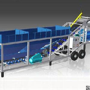 Factory Supply High Quality Yhzs100 Mobile Concrete Batching Plant, For Sale With Ce Approved