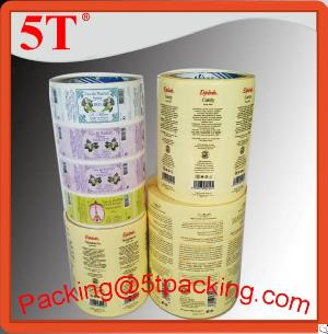 Glossy Adhesive Labels For Clear Bottles