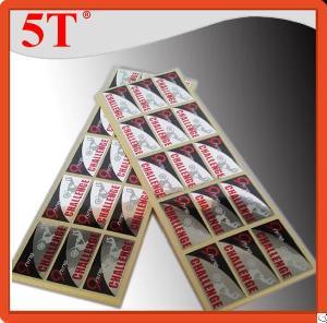 metallic adhesive labels perfumes