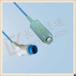 Newtech 12 Pin Reusable Spo2 Sensor Adult Finger Clip, L 3m