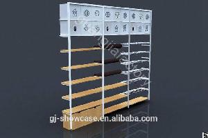 wooden steel wall mounted system garment display multi rack