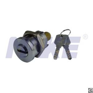 Cylinder Lock For Vending Equipment, Zinc Alloy, Brass, Nickel Plated
