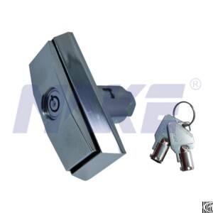 Zinc Alloy T-handle Lock For Vending Machine, Shiny Chrome