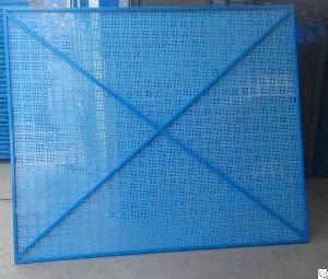 scaffolding safety steel perforated protective screen
