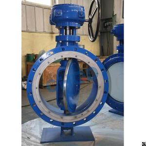 triple eccentric wafer butterfly valve astm a351 cf8 dn800 pn20