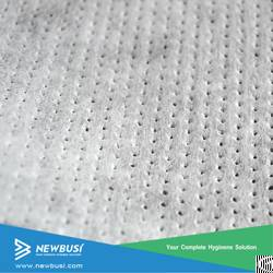 soft perforated airthrough nonwoven sanitary napkin topsheet