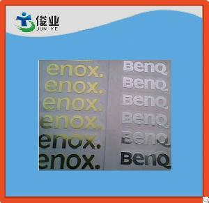 3d adhesive logo sticker metal label