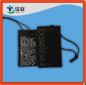 Base Line Garment Black Hangtag With String