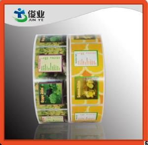 colorful fruits juice labels five