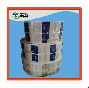 Colorful Paper Label Adhesive With Glossy Laminations