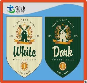 durable waterproof beer bottle adhesive label sticker