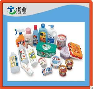 moulding plastic adhesive labels pe pp bottles cups boxes