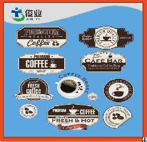 paper adhesive logo labels irregular shape stickers