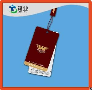 paper hang tags men garments