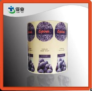 printing labels body mist bottles