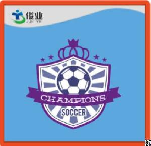 purple irregularidade champions soccer label