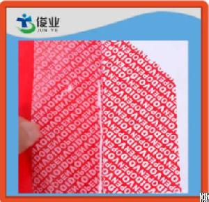 Red Anti-counterfeiting Warranty Void If Removed Label, Security Void Sticker