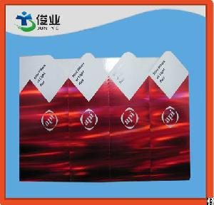 Red Background Printed Adhesive Sticker With Hologram Effect