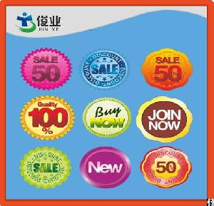 removable adhesive sticker colorful label