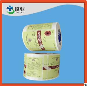 adhesive sticker roll
