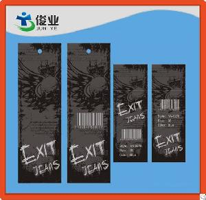 Top Quality Exit Jeans Hang Tags With Different Size