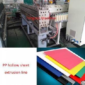 lsj120 33 1200 2300mm hollow sheet extrusion line pp machine
