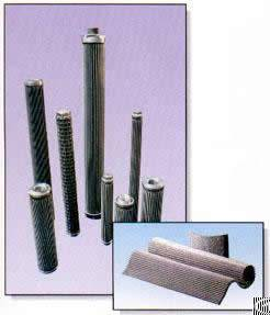 stainless steel wire mesh pleated filter elements