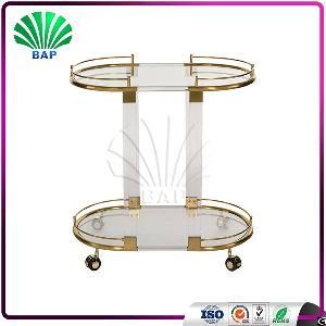 luxury asia cart metal glass trolley room serving
