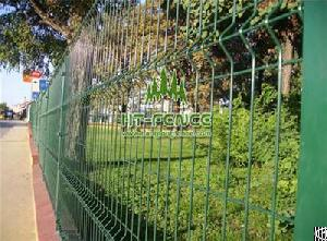 welded wire panel fence 3d