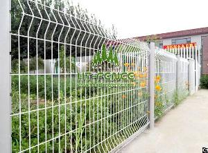 welded wire panel fence peach post
