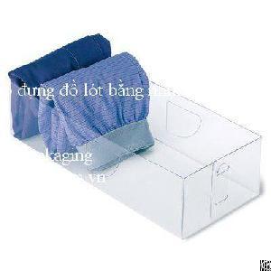 underwear packaging manufacturers t shirt bra pp pet pvc boxes vietnam