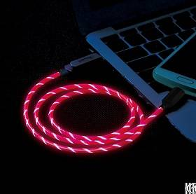 el visible micro usb flowing round cable ld001