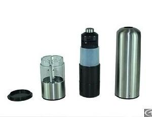 electric stainless steel salt pepper mill burnisher grinder