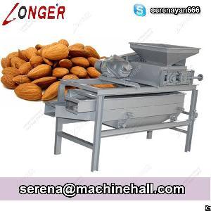 almond shell removing machine hazelnut cracking