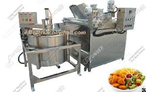 Automatic Deep Fryer Machine For Green Peas Green Peas Frying Machine